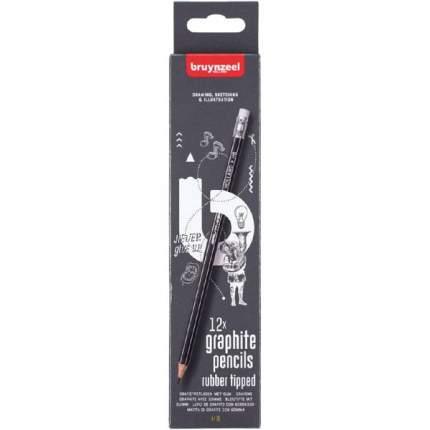 Набор чернографитных карандашей Bruynzeel 12 штук