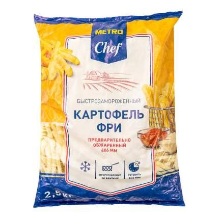 Картофель фри Metro Chef обжаренный замороженный 6 х 6 мм 2,5 кг