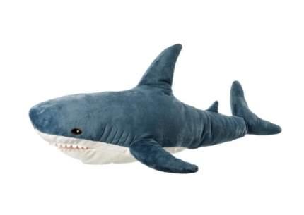Мягкая игрушка-подушка Wellywell Акула большая плюшевая синяя 45 см