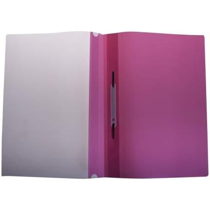 Папка-скоросшиватель пластик А4, 180мкм, розовая с прозр. верхом