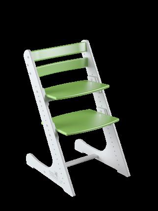 Детский растущий стул Конек Горбунек Комфорт Бело-зеленый