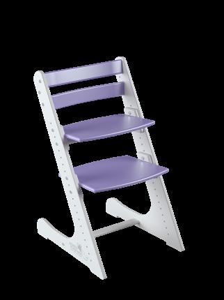 Детский растущий стул Конек Горбунек Комфорт Бело-сиреневый