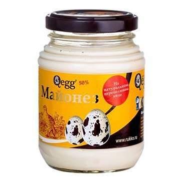 Майонез Qegg на перепелиных яйцах 50% 220 г