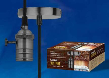 Подвесной светильник (UL-00004501) Uniel DLC-V-S24K/E27 TS/1M/BL Pearl Black