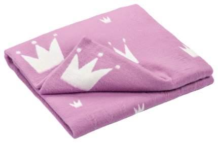 Одеяло байковое детское 57-6ЕТЖ 118-100 Премиум короны с сердечками
