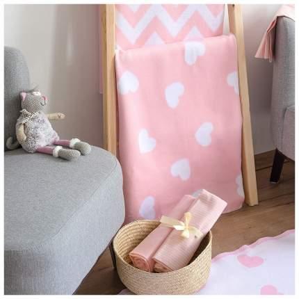 Одеяло байковое детское 57-6ЕТЖ 118-100 Премиум фламинго сердечки