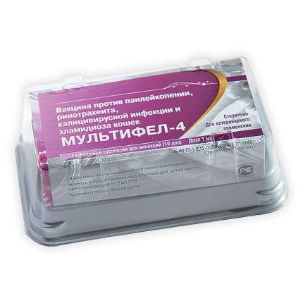 Вакцина Мультифел-4, доза, 1 флакон