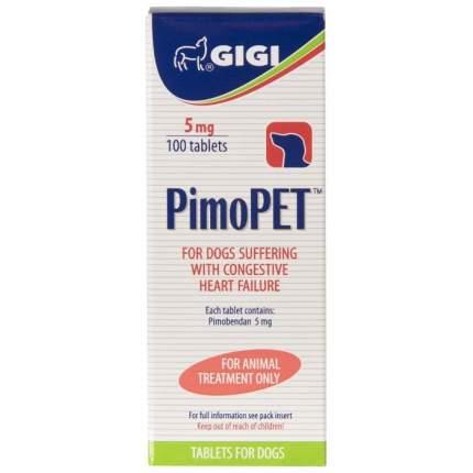 Препарат GIGI ПимоПЕТ для лечения сердечной недостаточности у собак, 100 таб