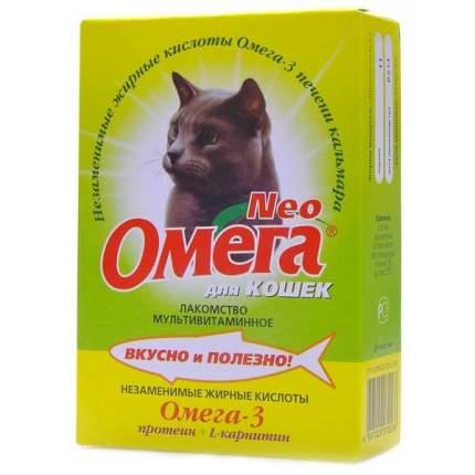 Витаминный комплекс для кошек Омега NEO Neo+, с L-карнитином для кастрированных 90таб