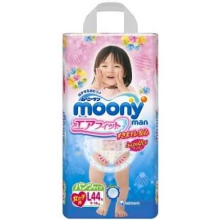 Moony Японские трусики «Air Fit» - L (9-14кг) - 44 шт, для девочек
