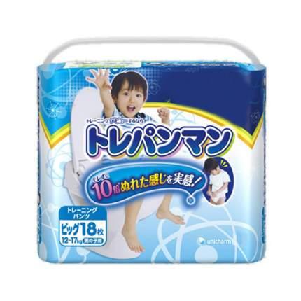 Moony Японские трусики для приучения к горшку - XL (12-17кг) - 18 шт, для мальчиков