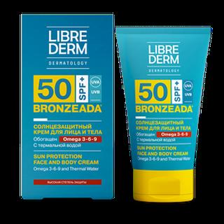 BRONZEADA Солнцезащитный крем SPF50 с Омега 3-6-9 и термальной водой 150 мл