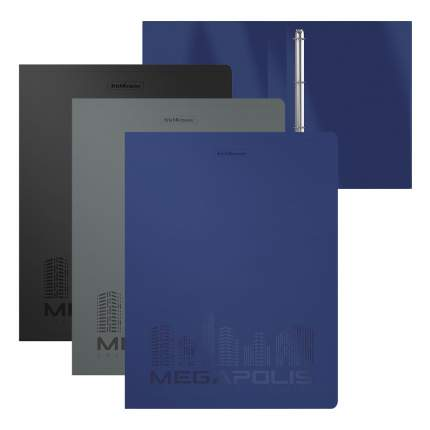 Папка на 4 кольцах пластиковая ErichKrause MEGAPOLIS, 35 мм, А4, ассорти (в пакете по 4 шт