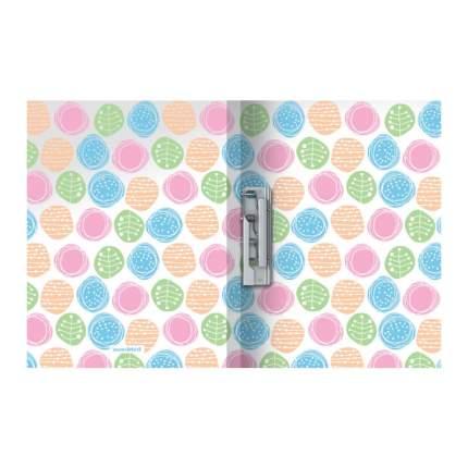 Папка с боковым зажимом пластиковая ErichKrause Buttons, A4 (в пакете по 4 шт.)