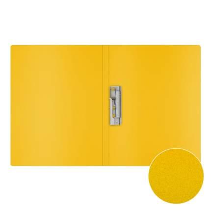 Папка с боковым зажимом пластиковая ErichKrause Classic, A4, желтый (в пакете по 4 шт.)