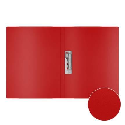 Папка с боковым зажимом пластиковая ErichKrause Classic, A4, красный (в пакете по 4 шт.)