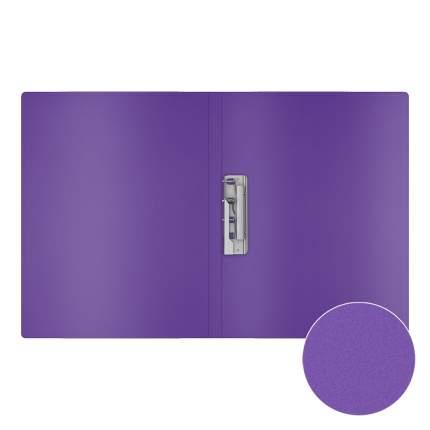 Папка с боковым зажимом пластиковая ErichKrause Classic, A4, фиолетовый (в пакете по 4 шт.