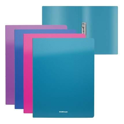 Папка с боковым зажимом пластиковая ErichKrause Diagonal Vivid, A4, ассорти (в пакете по 4