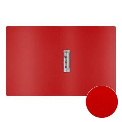 Папка с боковым зажимом пластиковая ErichKrause Matt Classic, A4, красный (в пакете по 4 ш