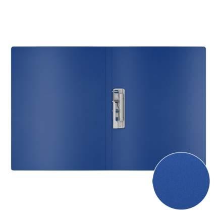 Папка с боковым зажимом пластиковая ErichKrause Matt Classic, A4, синий (в пакете по 4 шт.