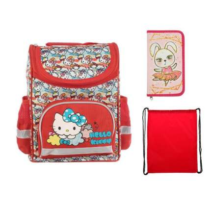 Рюкзак детский Hello Kitty Стандарт 32 х 25 х 13, + мешок для обуви + пенал