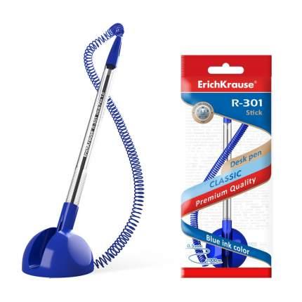 Ручка шариковая ErichKrause R-301 Desk Pen 1.0, цвет чернил синий (в пакете по 1 шт.)