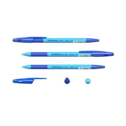 Ручка шариковая ErichKrause R-301 Neon Stick&Grip 0.7, цвет чернил синий