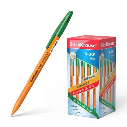 Ручка шариковая ErichKrause R-301 Orange Stick 0.7, цвет чернил зеленый