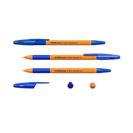 Ручка шариковая ErichKrause R-301 Orange Stick&Grip 0.7, цвет чернил синий (в пакете по 3
