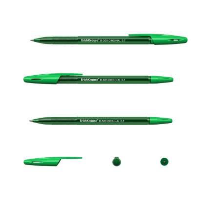 Ручка шариковая ErichKrause R-301 Original Stick 0.7, цвет чернил зеленый