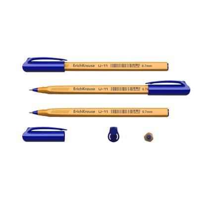 Ручка шариковая ErichKrause U-11 Yellow, Ultra Glide Technology, цвет чернил синий (в паке