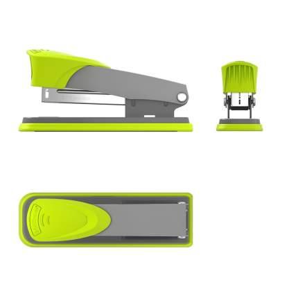 Степлер №24/6 ErichKrause Quadro Half-strip до 30 листов, серо-зеленый (в коробке по 1 шт.