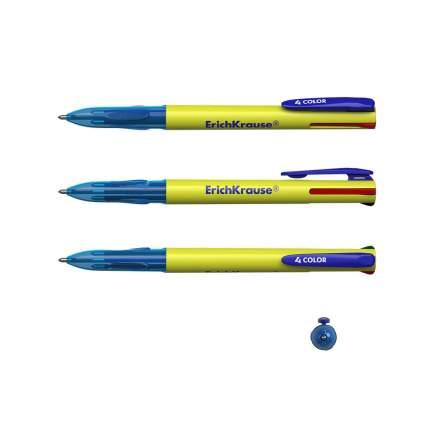Ручка шариковая автоматическая ErichKrause 4 COLOR, цвет чернил: синий, черный, красный, з