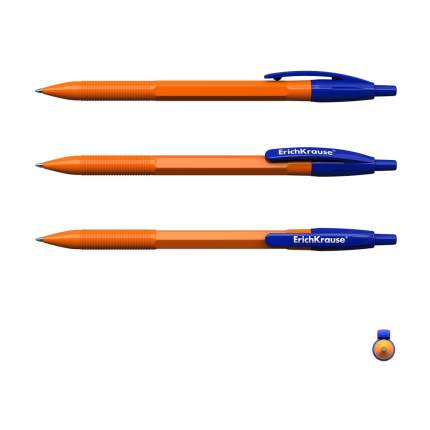 Ручка шариковая автоматическая ErichKrause R-301 Orange Matic 0.7, цвет чернил синий (в па