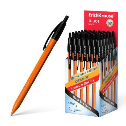 Ручка шариковая автоматическая ErichKrause R-301 Orange Matic 0.7, цвет чернил черный