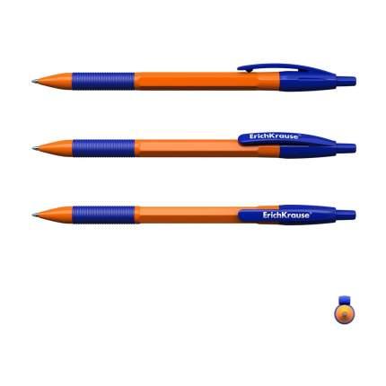 Ручка шариковая автоматическая ErichKrause R-301 Orange Matic&Grip 0.7, цвет чернил синий