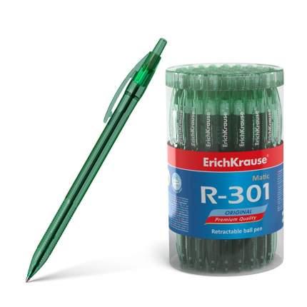 Ручка шариковая автоматическая ErichKrause R-301 Original Matic 0.7, цвет чернил зеленый