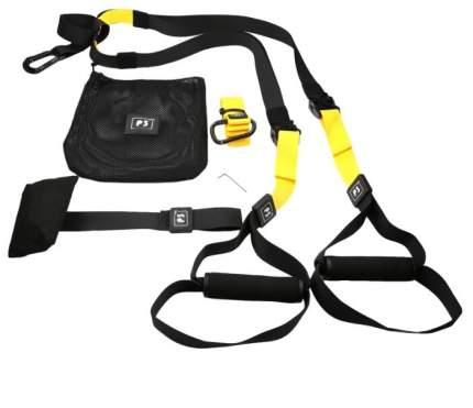 Петли тренировочные Suspension Training со страховочной петлёй (черно-желтые)