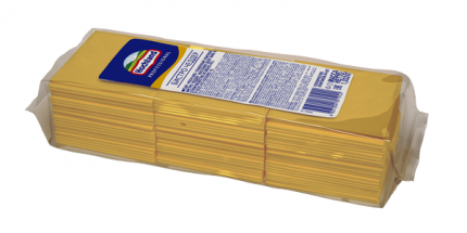 Плавленый сыр Hochland Professional Бистро Чеддар 84 ломтика 45 % 1,033 кг бзмж