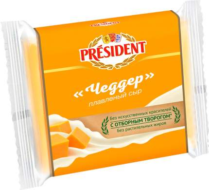 Плавленый сыр President Чеддер ломтевой 40% 150 г бзмж