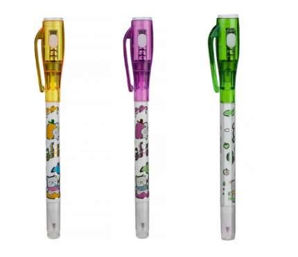 Ручка-шпион wellywell с невидимыми чернилами и УФ фонариком, в наборе, 3 шт, Shpion-pen3