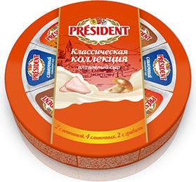 Сыр плавленый 45% President Классическая коллекция 8 порций 140 г