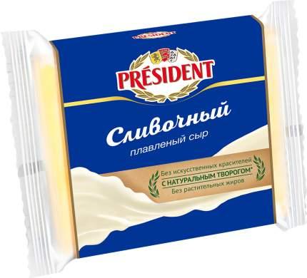Плавленый сыр President сливочный нарезка 40% 300 г бзмж
