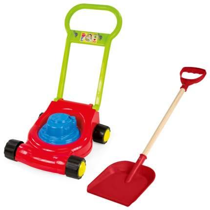 Набор садовода Детская газонокосилка/ Деревянная детская лопатка 60 см красная