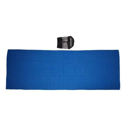Полотенце для йоги Tunturi с мешком для переноски, 180-63 см, синее