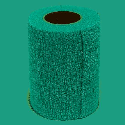Бинт VETЗАБОТА ветеринарный самофиксирующийся зеленый  10х450см