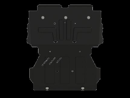 Защита картера и радиатора Sheriff для Хавал Н5 2020-, модель №5, сталь 2,5мм, арт:28.4624