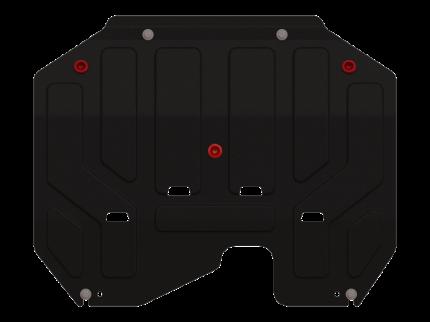 Защита картера и КПП Sheriff на Хендай IX35 2010-2015, модель №1, сталь 2мм, арт:10.1780
