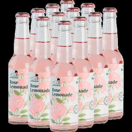 Натуральный розовый лимонад / Lemonardo Rose Lemonade, 330мл. 12шт