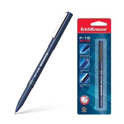 Ручка капиллярная ErichKrause® F-15, цвет чернил синий (в блистере по 1 шт.)